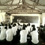 Our Founder motivating grade 8 students at Kidemu